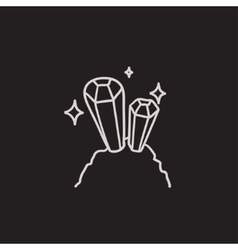 Gemstones sketch icon vector image vector image
