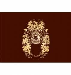 Golden crest vector