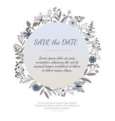Invitation or greeting card vector