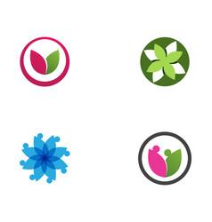 Leaf lotus flower logo and symbols vector