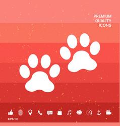Paws symbol icon vector