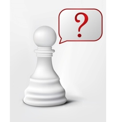 question of chess pawn vector image vector image