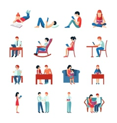 Reading people set vector