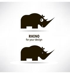 Rhino icon vector image