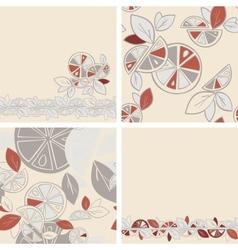 Seamless background Citrus Mix set vector image vector image