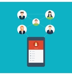 Social network and teamwork concept for web and vector