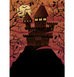 Spooky castles vector