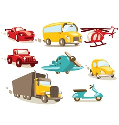 transport cartoons vector image