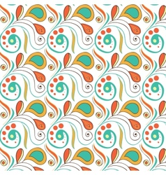 Vintage swirl seamless pattern vector image vector image
