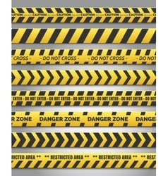 Caution yelow tape set vector