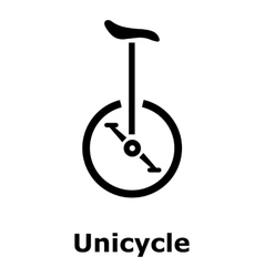 Unicycle icon simple style vector image