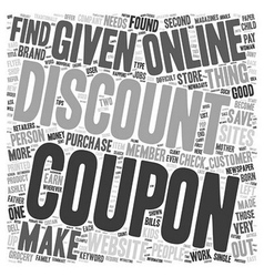 How To Find Coupons Online That Save You Money vector image