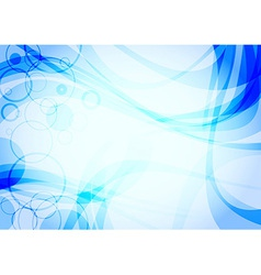 Abstract water wave background vector