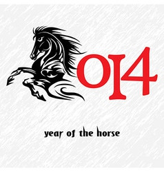 Horse 2014 year chinese symbol vector image