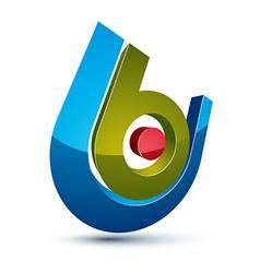 3d unusual company idea design element abstract vector