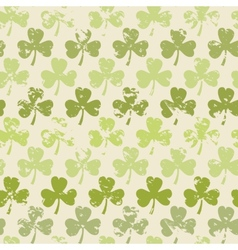 Grunge clover pattern vector image