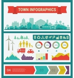 infographics Town and village vector image
