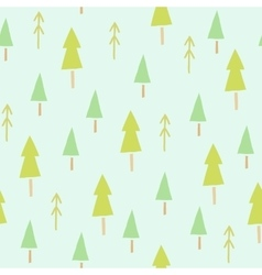 Green spruces seamless pattern vector