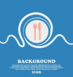 Eat sign icon cutlery symbol fork and knife blue vector