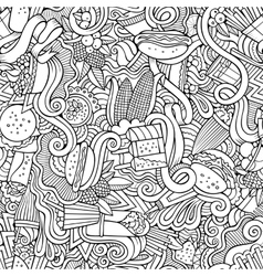 Cartoon hand-drawn doodles on the subject of fast vector