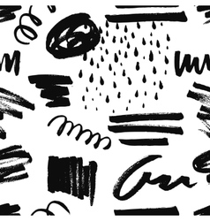 Abstract seamless pattern with handdrawn shapes vector
