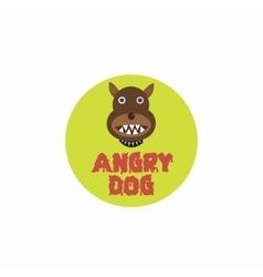 Angry dog plate vector image