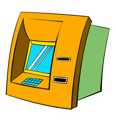 Atm icon cartoon vector