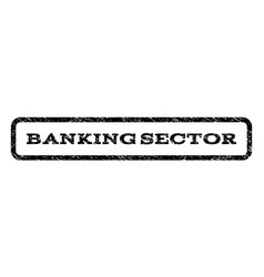 Banking sector watermark stamp vector