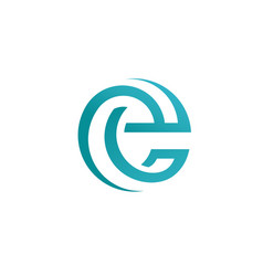 best letter e circle style logo concept vector image vector image