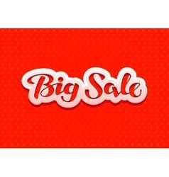Big sale lettering design for christmas sales vector