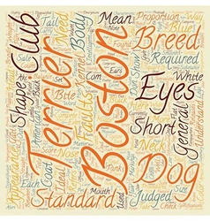 Boston terrier the standard and does it matter vector