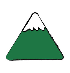 cartoon mountain snow nature image vector image vector image