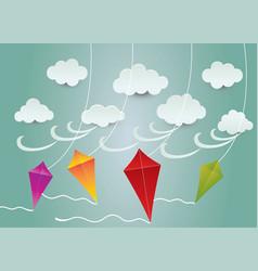 Cloud and kite ideas design vector