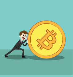 crypto-currency market happy successful vector image