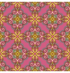 Damask ornament seamless pattern vector image