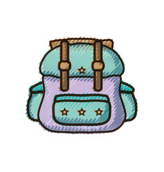 doodle backpack travel style to expedition tourist vector image
