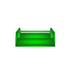 empty wooden toolbox in green design vector image