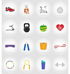 Fitness flat icons 17 vector
