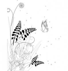 floral ink sketch vector image vector image