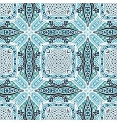 Geometric tiled grunge doodle pattern vector