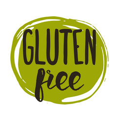 Gluten free hand drawn isolated label vector
