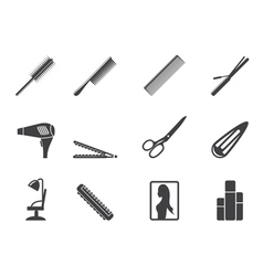 hairdressing and make-up icons vector image vector image