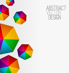 Heptagon modern abstract colorful background vector