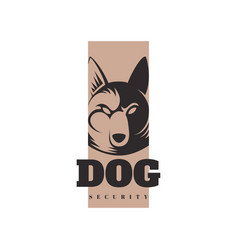 Logo template with angry dog vector