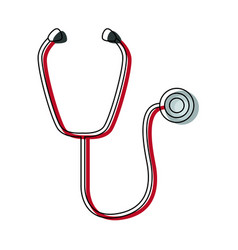 medical stethoscope diagnosis equipment icon vector image vector image
