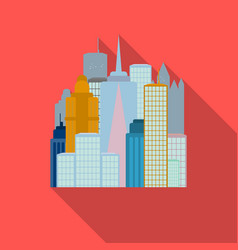 Megalopolis icon in flate style isolated on white vector
