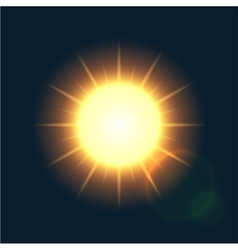 modern sun background sunshine design vector image