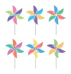 Pinwheel set vector