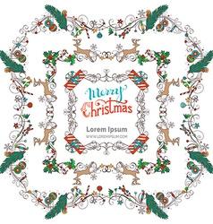 Set of christmas vintage frames vector