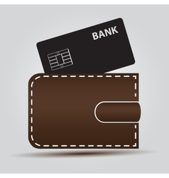 Wallet and bank card eps10 vector